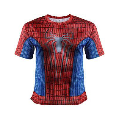Amazing Spider Man Marvel Superhero Classic Gym Fitness  Costume T-shirt - Superheroes Gears
