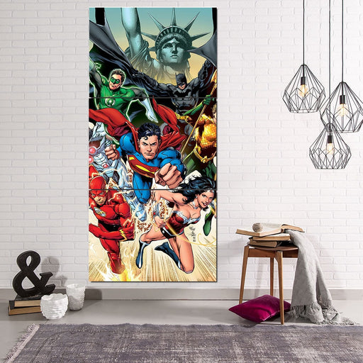 America's Superheroes Justice League 3pcs Canvas Print