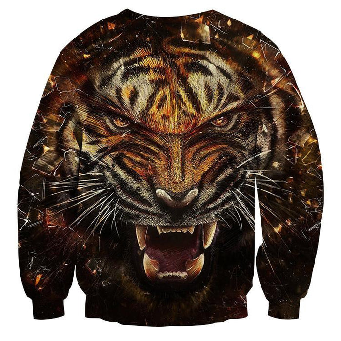 Angry Tiger Animal King Impressive Dope Style Sweatshirt - Superheroes Gears