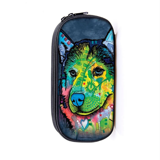 Artistic Wolf Colorful Picturesque Art Pencil Case