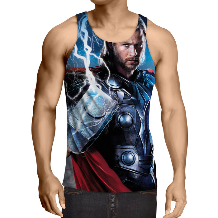 Asgardian God of Thunder Thor Enchanted Hammer Tank Top