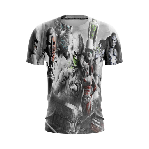 Batman Arkham City Evil Villain Joker Harley Bane T-Shirt