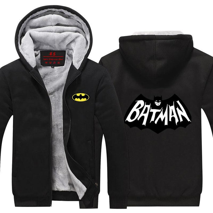 Batman Graffiti Black And White Symbol Unique Hooded Jacket - Superheroes Gears