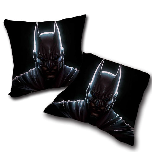 Batman Hero Head Shot On The Dark Full Print Black Pillow - Superheroes Gears
