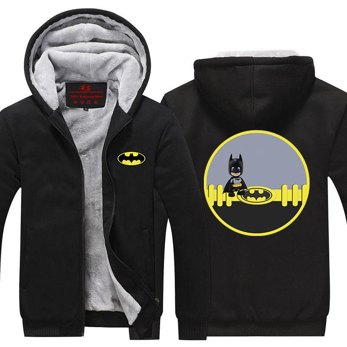 Batman Little Innocent Chibi Cute Character Hooded Jacket - Superheroes Gears