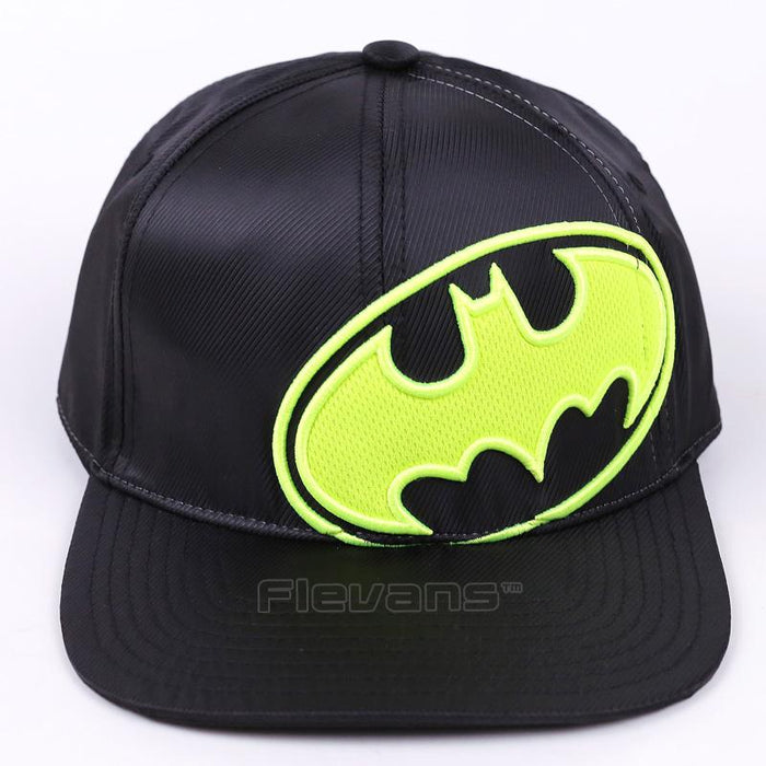 Batman Logo All in Black Street Style Baseball Snapback - Superheroes Gears