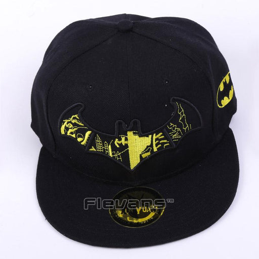 Batman Logo Fashionable Black Yellow Snapback Baseball Hat Cap - Superheroes Gears