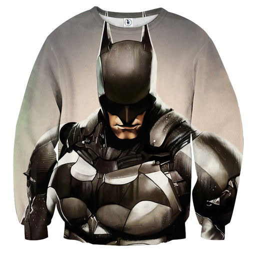 Batman Realistic Half Body Portrait Full Print Sweatshirt - Superheroes Gears