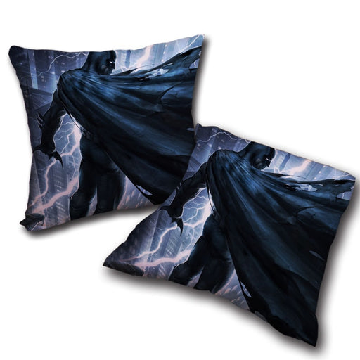 Batman Standing Under The Thunderlight Full Print Pillow - Superheroes Gears