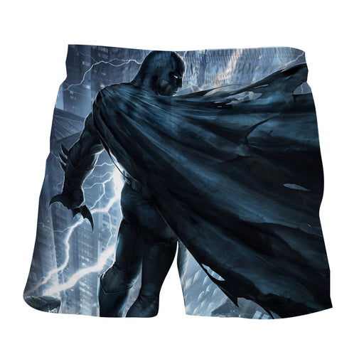 Batman Standing Under The Thunderlight Full Print Short - Superheroes Gears