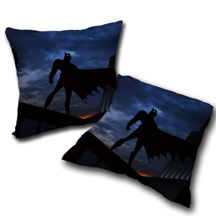 Batman Superhero Silhouette On the Sunset Full Print Pillow - Superheroes Gears