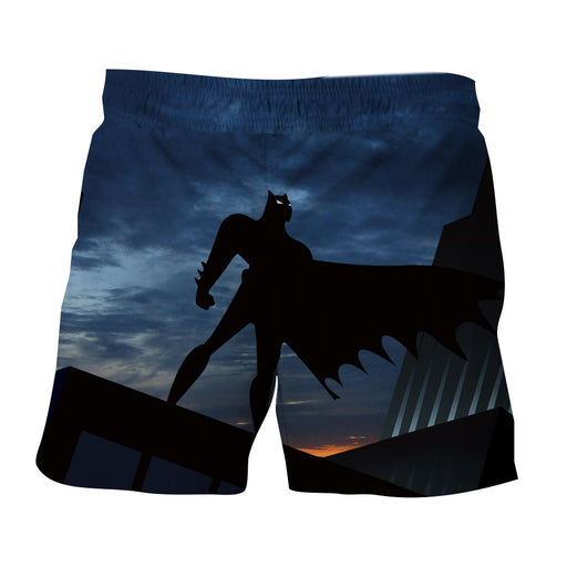 Batman Superhero Silhouette On the Sunset Full Print Short - Superheroes Gears
