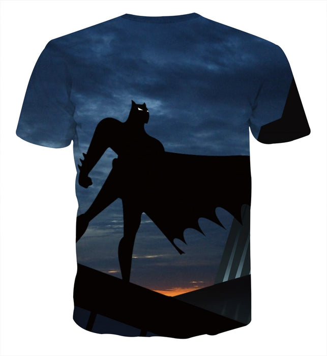 Batman Superhero Silhouette On the Sunset Full Print T-Shirt - Superheroes Gears
