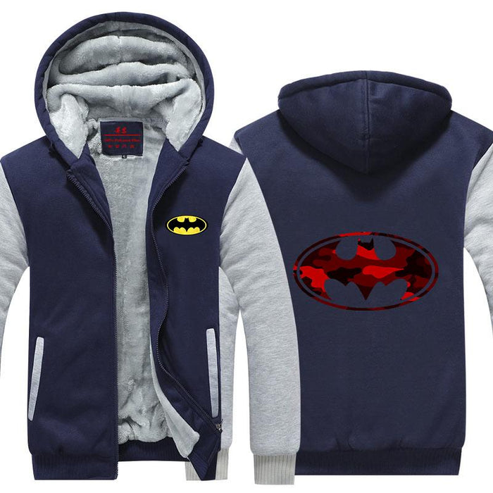 Batman Symbol Camouflage Patterns Attractive  Hooded Jacket - Superheroes Gears