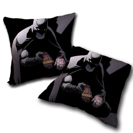 Batman The Black Mask Sorrow With People Full Print Pillow - Superheroes Gears
