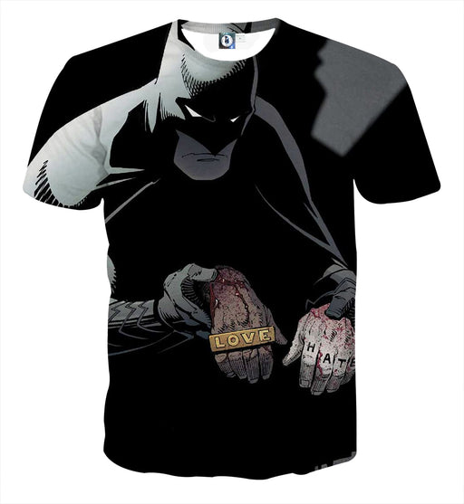Batman The Black Mask Sorrow With People Full Print T-Shirt - Superheroes Gears