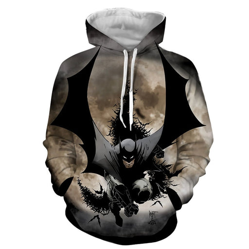 Batman The Dark Knight Ready To Save Full Print Hoodie - Superheroes Gears