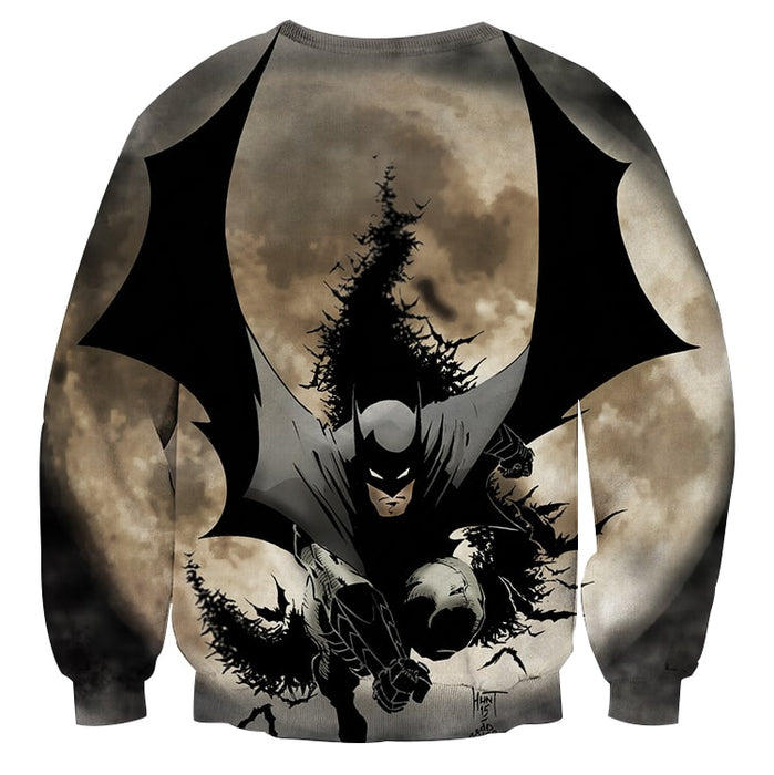 Batman The Dark Knight Ready To Save Full Print Sweatshirt - Superheroes Gears