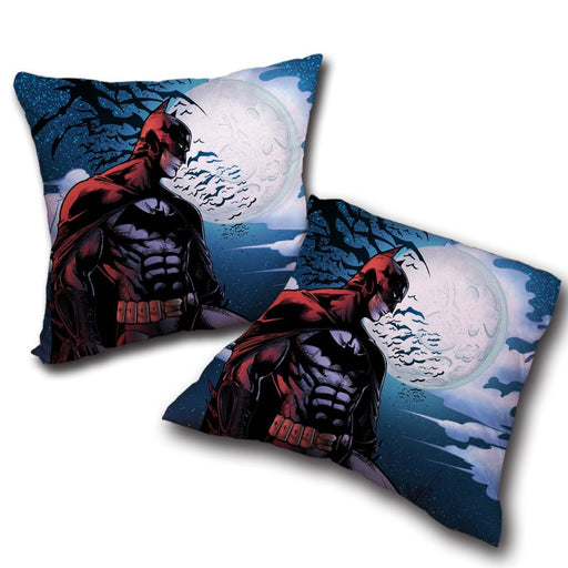 Batman Under The Moon With Bats And Night Blue Sea Pillow - Superheroes Gears
