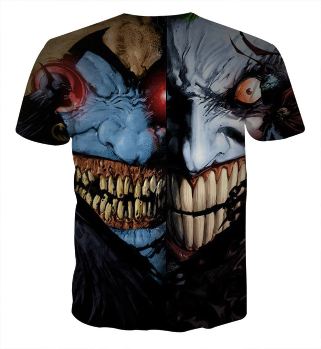 Batman Vs Joker Face Off Cool Design Full Print T-Shirt