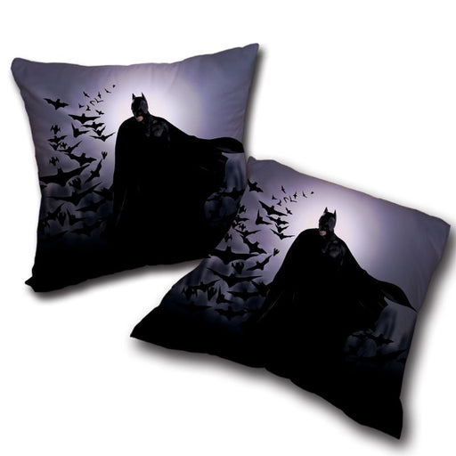 Batman With The Bats Silhouette On The Moon Full Print Pillow - Superheroes Gears