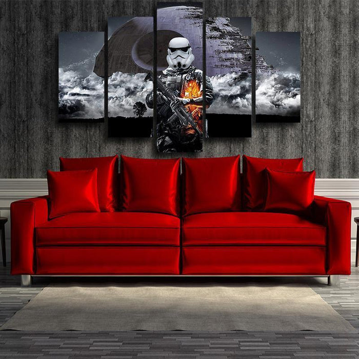 Battlefield 3 Star Wars Storm Troopers Design 5pc Wall Art Canvas - Superheroes Gears