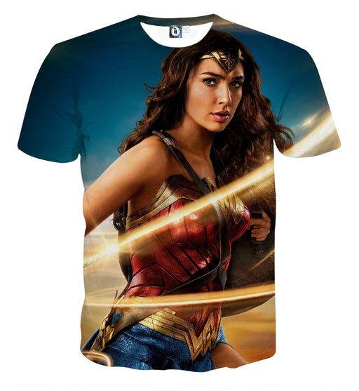Beautiful Gal Gadot Wonder Woman Holding Golden Lasso T-shirt