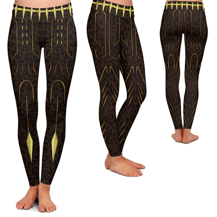 Black Panther T'Challa Cosplay Women Leggings Yoga Pants - Superheroes Gears