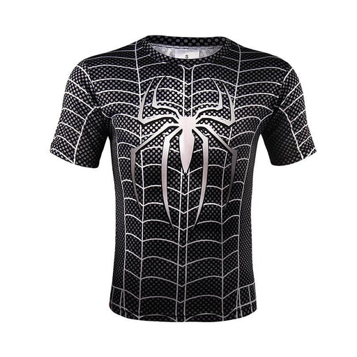 Black Spiderman Amazing Full Print Symbiote Costume Design T-shirt - Superheroes Gears