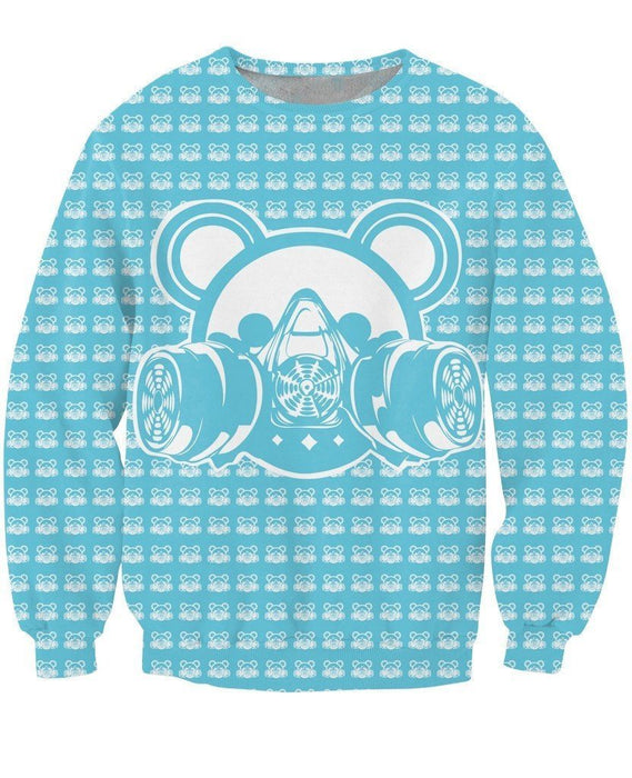 Bubble Goth Bear Gas Mask Icon Street Wear Trending Design Sweatshirt - Superheroes Gears