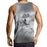 Calm Gray Resting Wolf Snow Design Streetwear Tank Top