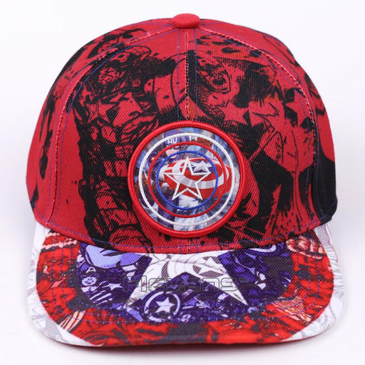 Captain America All Red Funky Swag Streetwear Snapback Hat Cap - Superheroes Gears