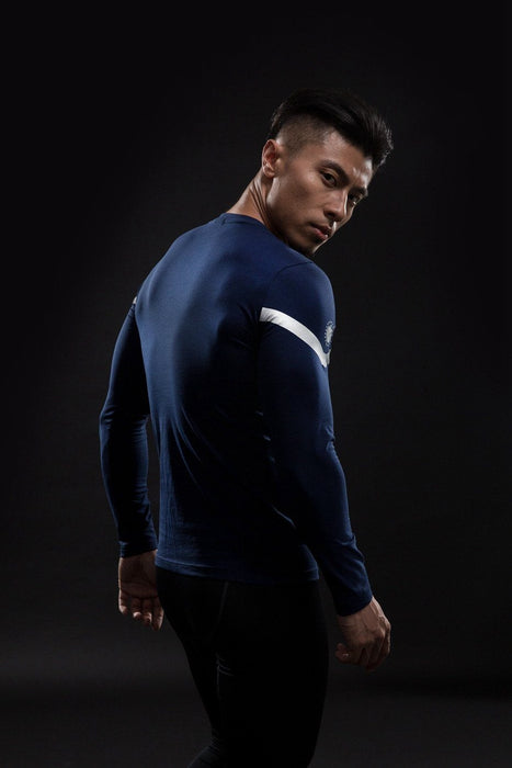 Captain America Avengers Compression Long Sleeves Fitness T-shirt - Superheroes Gears