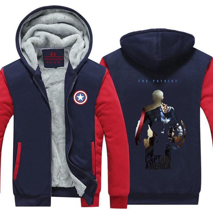 Captain America Civil War Fan Art Vibrant Hooded Jacket - Superheroes Gears