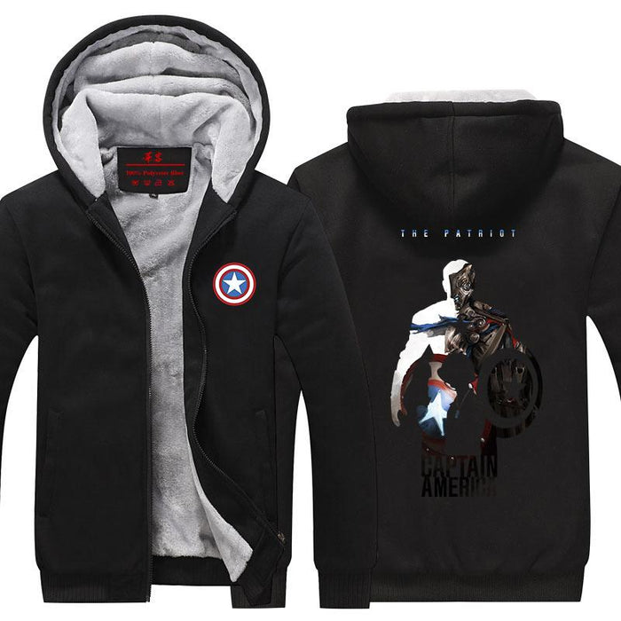 Captain America Hero Poster Dope Full Print Hooded Jacket - Superheroes Gears