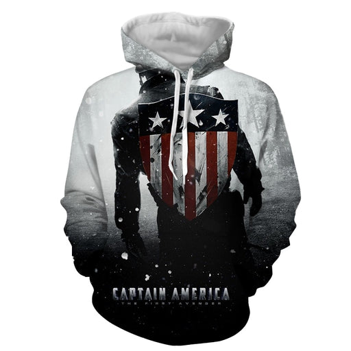 Captain America Leaving The Victorious Battle White Hoodie