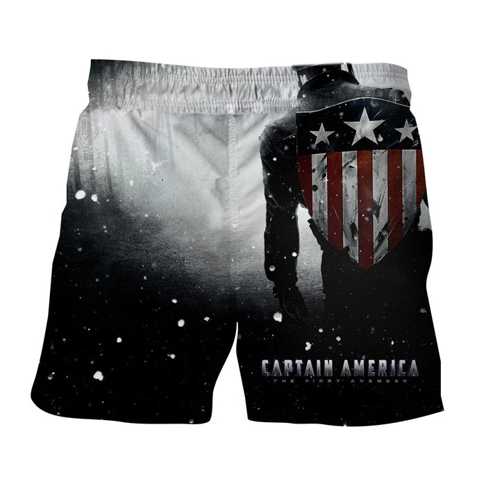 Captain America Leaving The Victorious Battle White Boardshorts