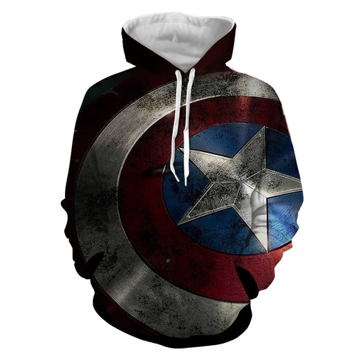 Captain America Powerful Shield 3D Full Print Hoodie