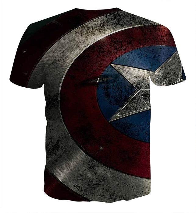 Captain America Powerful Shield 3D Full Print T-shirt