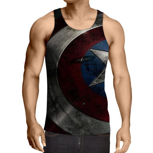 Captain America Powerful Shield 3D Full Print Tank Top