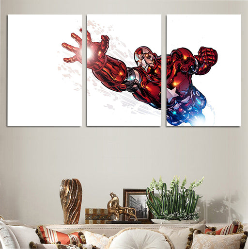 Captain America Suit-Inspired Iron Man Armor 3pcs Canvas Art
