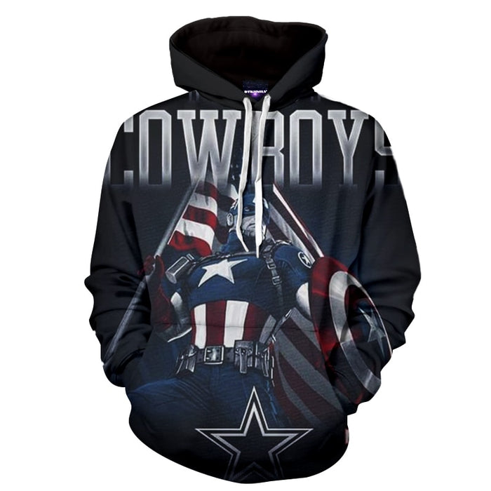 Captain America The Cowboy Superhero Full Print Hoodie