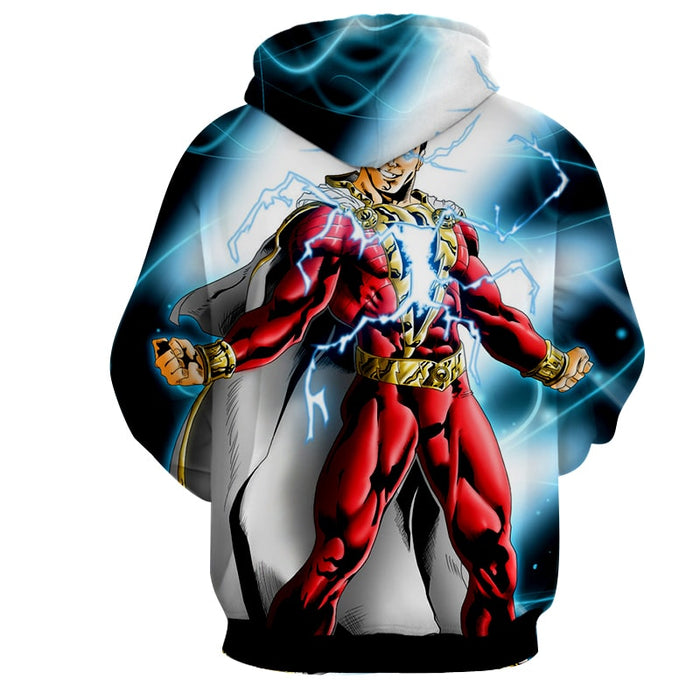 Captain Marvel Superhero Electrifying Fashionable Blue Hoodie