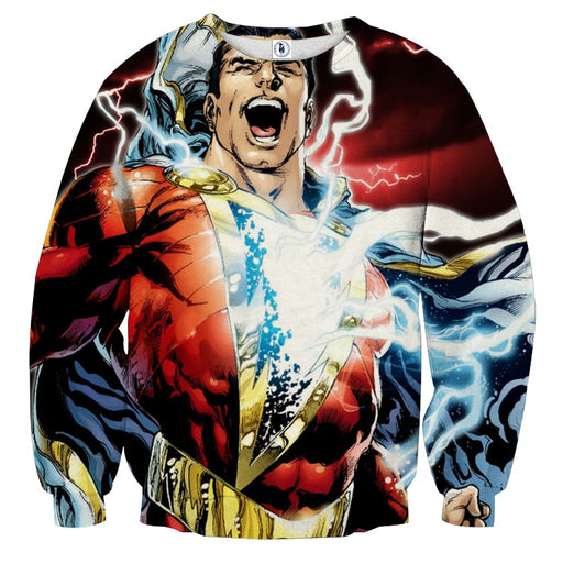 Captain Marvel Superhero Epic Charged Electric Sweatshirt