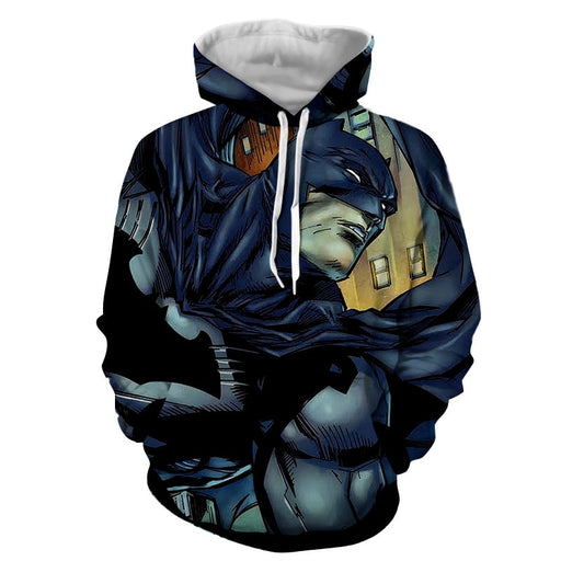 Cartoonized Batman Superhero Cool Full Print Hoodie - Superheroes Gears