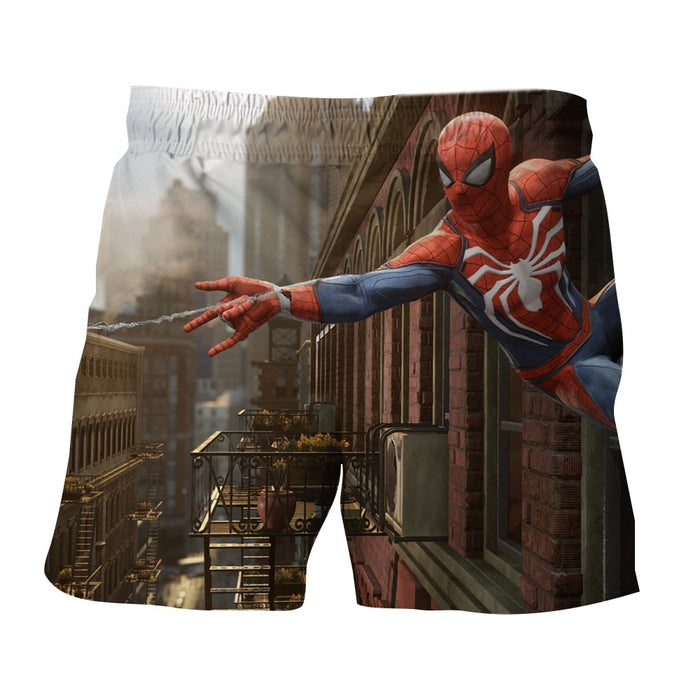 Cool Spider-Man Wall Clinging Design Full Print Boardshorts