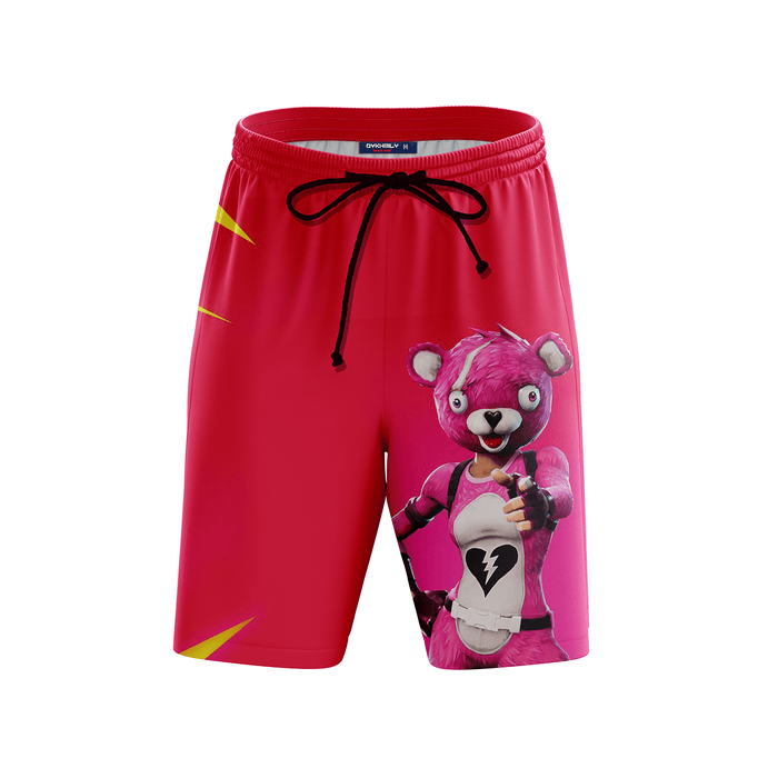 Cuddle Team Leader Fortnite Inspired Pink Awesome Boardshorts