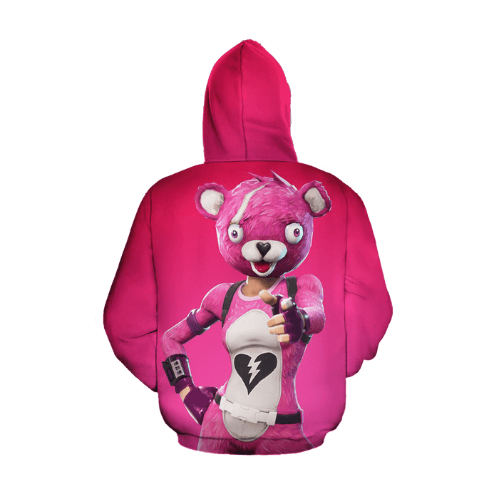 Cuddle Team Leader Fortnite Inspired Pink Awesome Hoodie