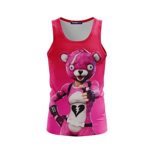 Cuddle Team Leader Fortnite Inspired Pink Awesome Tank Top