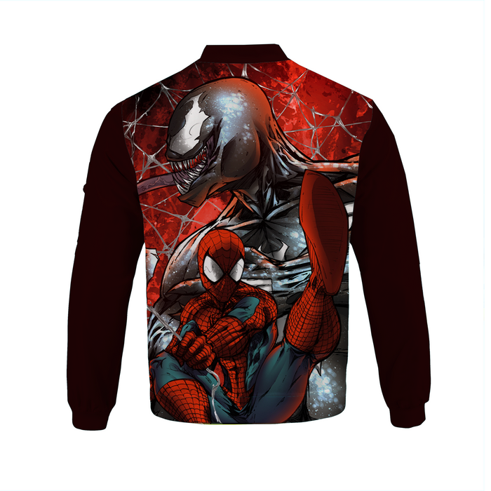 Red Dope Venom & Spider Man Bomber Jacket